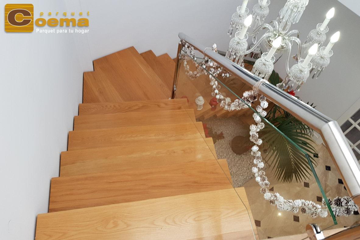 Escaleras de tablón macizo malaga