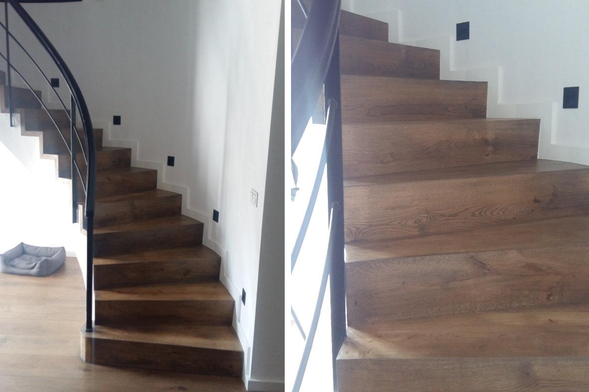 Escaleras de madera m laga parquet coema - Escaleras de madera modernas ...