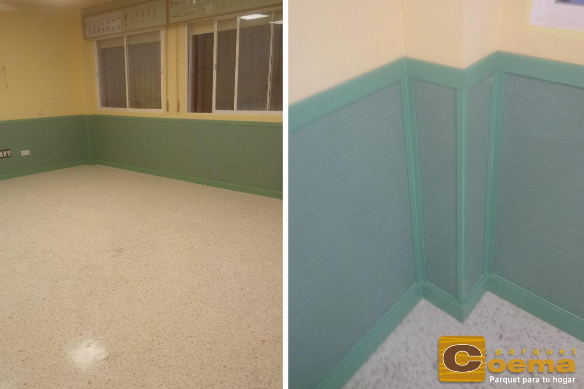 Instalación de PVC en pared para un colegio en Alhaurín de la Torre